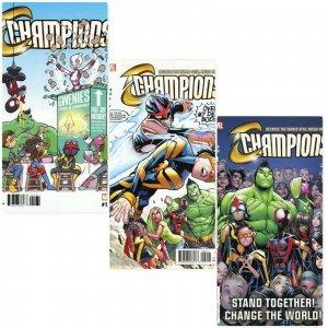 CHAMPIONS #1-3 including Jay P Fosgitt Party Variant Marvel Comics 2016