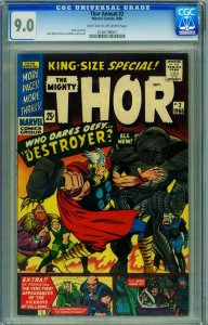 THOR ANNUAL #2 CGC 9.0-THE DESTROYER!-MARVEL 0130198001