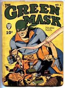 Green Mask #1 1940-Fox-LOU FINE-Golden-Age First issue comic book