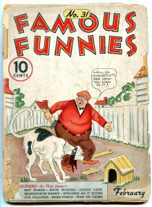 Famous Funnies #31 1937- Buck Rogers- Early Comic- Alley Oop LOW GRADE