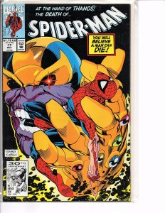Marvel Comics Spider-Man #17 Rick Leonardi Thanos Infinity Gauntlet