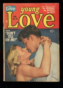 YOUNG LOVE #24 1951-PHOTO COVER--JOE SIMON & JACK KIRBY VG-
