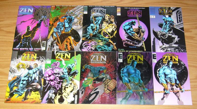 Zen Intergalactic Ninja Color #0 & 1-7 VF/NM complete series + (2) variants -set