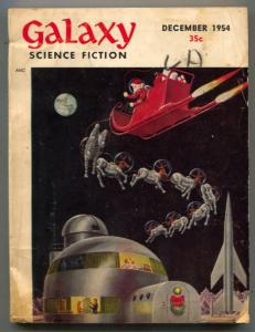 Galaxy Science Fiction December 1954- EMSH Christmas cover