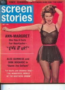 Screen Stories-Ann-Margret-Alec Guinness-Dirk Bogarde-Oct-1962