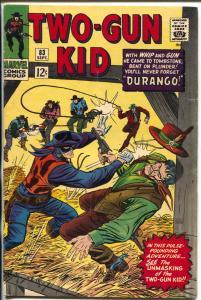 Two-Gun Kid  #83 1966-Marvel-Unmasking Two-Gun Kid-Stan Lee-Dick Ayers-FN+