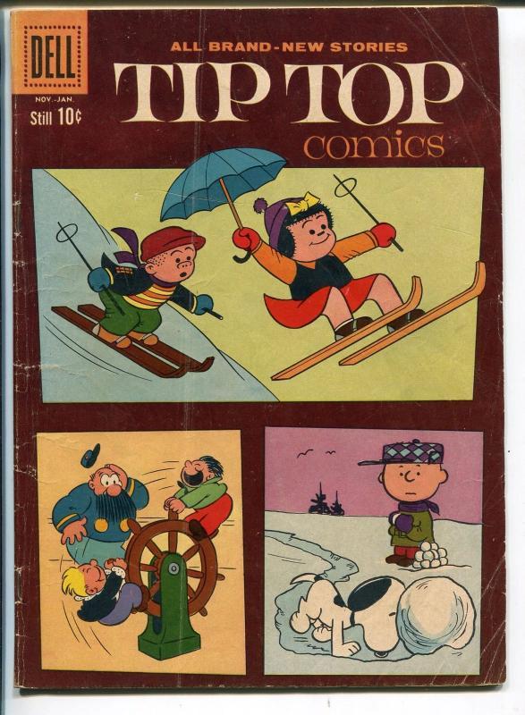 TIP TOP #223 1960-DELL-NANCY-SLUGGO-PEANUTS-CHARLIE BROWN-vg
