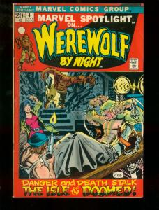Marvel Spotlight #4 WEREWOLF BY NIGHT 1972 MARVEL COMICS  MIKE PLOOG ART FN