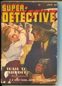 Super-Detective 1/1947-Bondage cover-hardboiled pulp fiction-Joseph Sokoli-G+