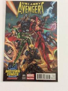 Uncanny Avengers #1 NM Midtown Comics NYC 2012 Exclusive J Scott Campbell Cover