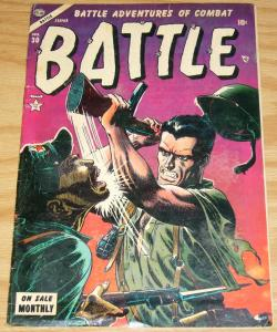 Battle #30 VG+ june 1954 - Adolf Hitler suicide story - world war 2 WWII atlas