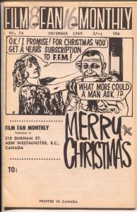 Film Fan Monthly #54 12/1965-Christmas Issue-Earle Ainsworth-VG