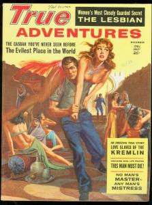 TRUE ADVENTURES DEC 1961-SPICY HAREM COVER-SAUNDERS ART VF
