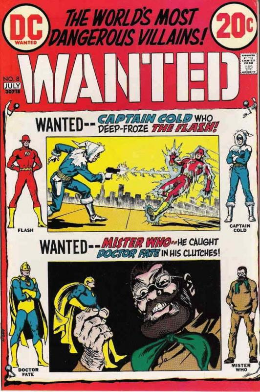 Wanted, the World's Most Dangerous Villains #8 VG; DC | low grade comic - save o