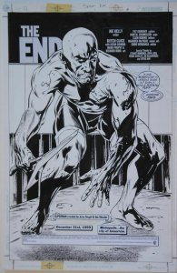 JACKSON BUTCH GUICE / BONK original art, SUPERMAN Y2K pg 4,1 1x17, 2000, Splash