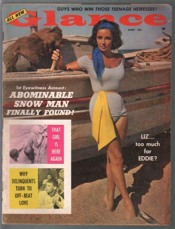 Glance 6/1960-Caper-Jayne Mansfield-i-spicy cheesecake-Fidel Castro-FN-