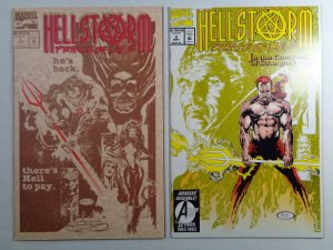 Hellstorm Prince of Lies #1 and #2 Marvel 1992