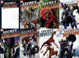 SECRET INVASION (2008) 1a,2-8  COMPLETE!