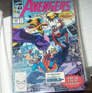 Avengers # 316 (FEB 1989 Marvel) cap    SPIDERMAN NEBULA SERSI STARFOX