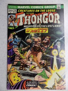 CREATURES ON THE LOOSE # 28 THONGOR BARBARIAN FANTASY