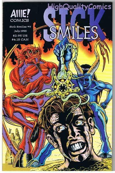 SICK SMILES #9, VF/NM, AIIIE Comics, Indy, Horror, 1994, more indies in store