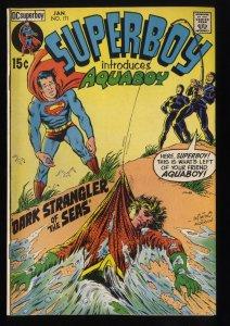 Superboy #171 FN 6.0 1st Aquaboy! DC Comics Superman