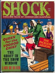Shock Vol. 3 #2 1971- Horror Magazine Lady of Death- Queen for the Voodoo