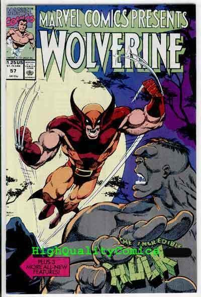 MARVEL COMICS PRESENTS #57, NM, Wolverine vs Hulk, Keown, more in store