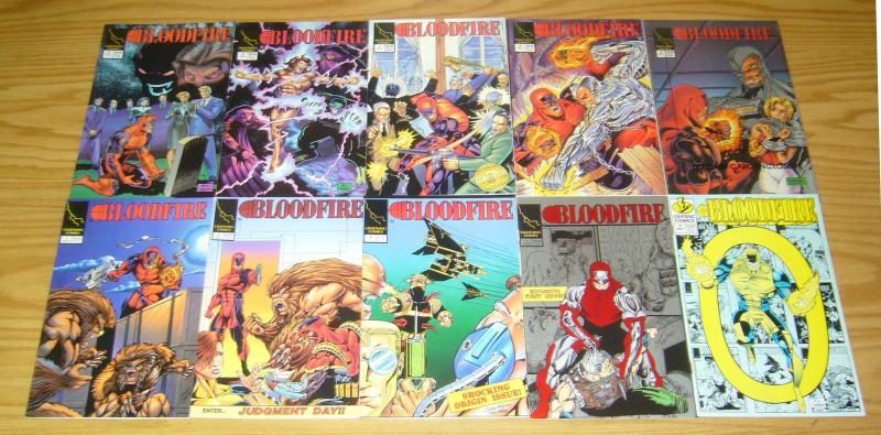 Bloodfire #0 & 1-12 VF/NM complete series - first super hero with HIV/AIDS set