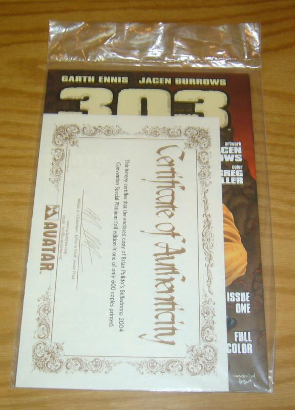 Brian Pulido's Belladonna 2004 Con Special #1 VF/NM platinum variant w/COA (650)