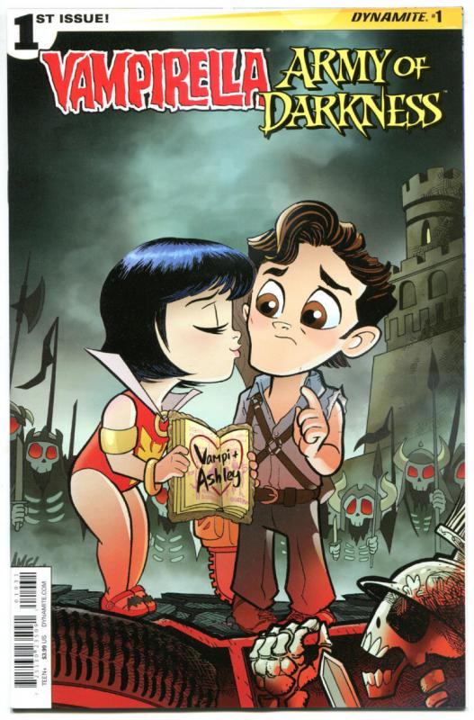 VAMPIRELLA ARMY of DARKNESS #1 C, NM, Dynamite, 2015, more AoD in store, Horror