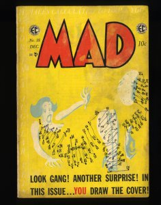 Mad #18 FN- 5.5 Double Cover! Exterior Cover VG- 3.5.