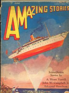 AMAZING STORIES june 1930-rare early sci-fi pulp-P/FR