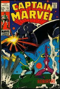 CAPTAIN MARVEL #11 1969-MARVEL COMICS FN