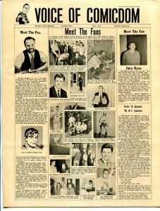 Voice of Comicdom #4 1965-early fanzine-scarce-Jerry Bails-Russ Manning-FN-