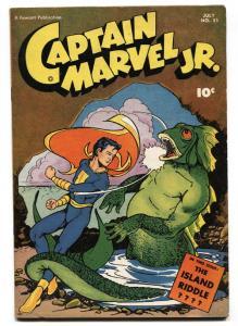 Captain Marvel Jr. #51 1947- Fawcett Golden Age Horror Cover VF-