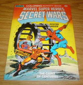 Secret Wars Coloring Activity Book - the Crime of Centuries #1 FN with poster