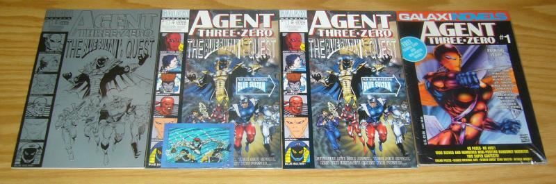 Agent Three Zero #1 VF/NM one-shot + 1A + 1B + 1C - stephen platt - bagley