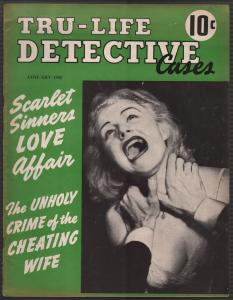 Tru-Life Detective Cases #3 4/1942-Tayshack-strangulation-crime-mystery-FN/VF