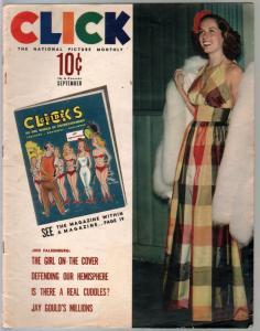 Click 9/1940-Jinx Falkenburg-cheesecake-exploitation-scandal-funny pix-VG
