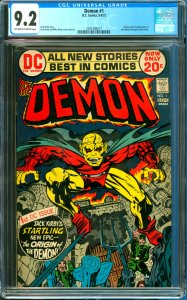 Demon #1 CGC Graded 9.2 1st Appearance of the Demon and Randu