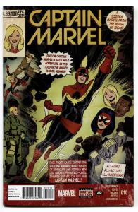 Captain Marvel #10 2014-1976 cover homage-Marvel comics