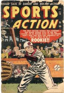 SPORTS ACTION #14-----1952----BASEBALL----BOXING---OLYMPICS---ATLAS---RARE