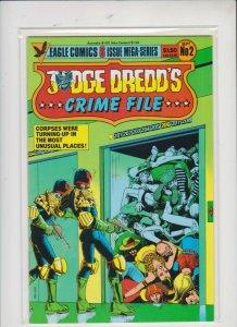 JUDGE DREDD'S ***CRIME FILE*** # 2  1985  EAGLE  COMICS / UNREAD / HIGH