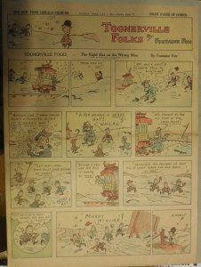 Toonerville Folks by Fontaine Fox from 2/7/1926 Full Size Color Page !
