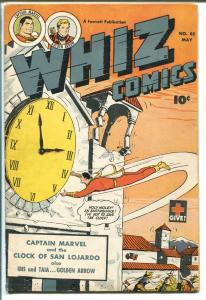 Whiz #85 1947-Fawcett-Capt Marvel-Ibis-Go;den Arrow-Basil Wolverton-FN+