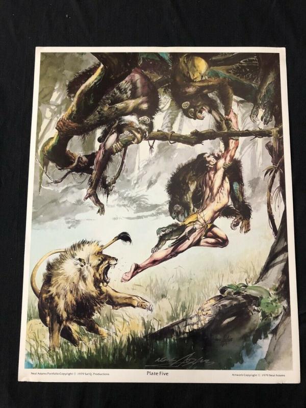 Neal Adams signed Tarzan Print Plate Five with COA
