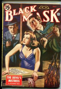 BLACK MASK 07/1945-POPULAR-PULP-HARD BOILED-CRIME-FLEMING-ROBERTS-SALE-fn/vf