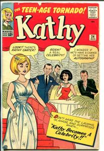 Kathy #24 1963-Marvel-swimsuits-paper dolls-hair styles-Stan Goldberg-VG/FN