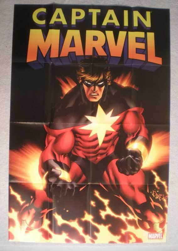 CAPTAIN MARVEL Promo Poster, 24 x 36, 2007, Unused, more in our store